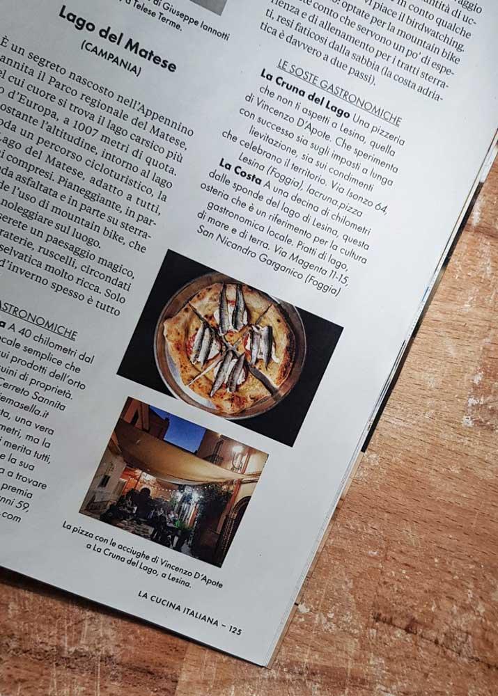 articolo cucina italiana laghi pizzeria cruna